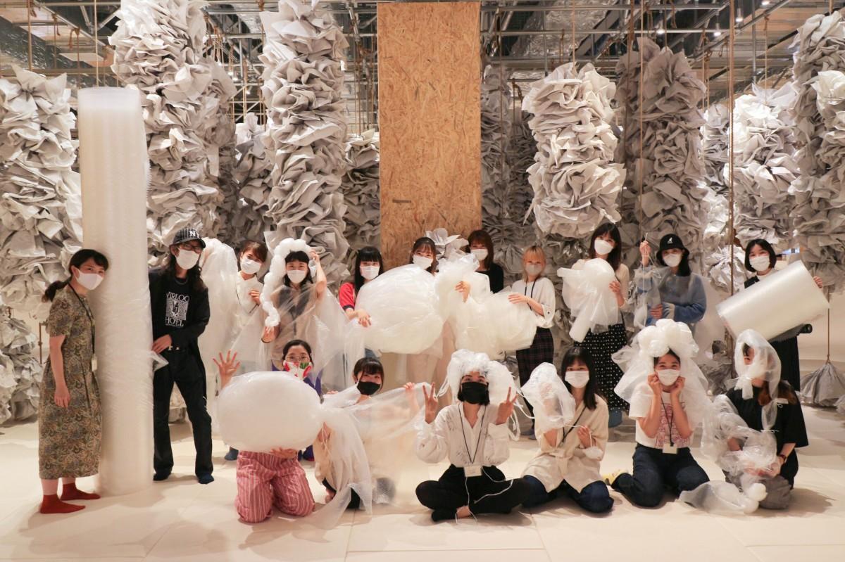 有志で集まった、Let's! PLAY! PUTIPUTI!プロジェクトの武蔵野美術大学の学生メンバー