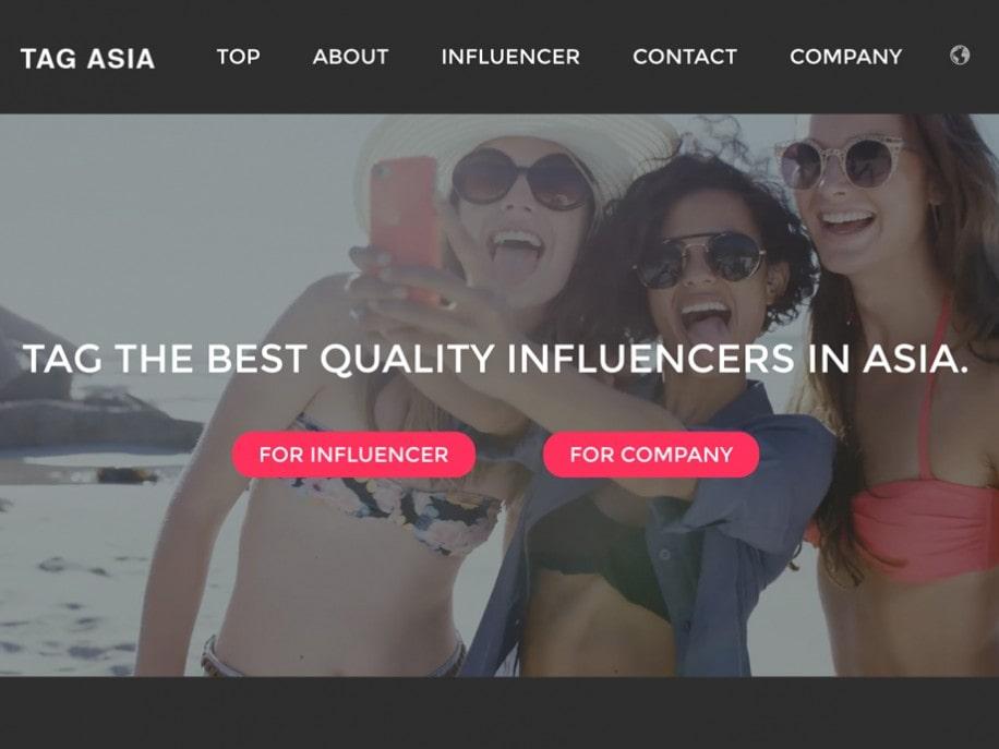 インフルエンサー・マーケティングサイト「TAG ASIA」