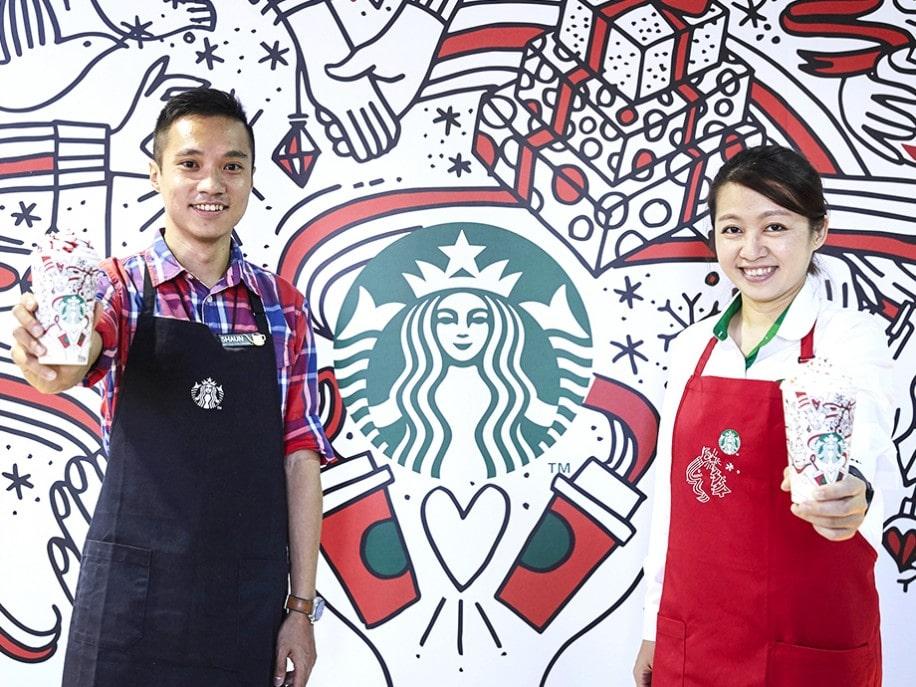 台湾スターバックス、今年のクリスマスシリーズ限定商品、販売開始。