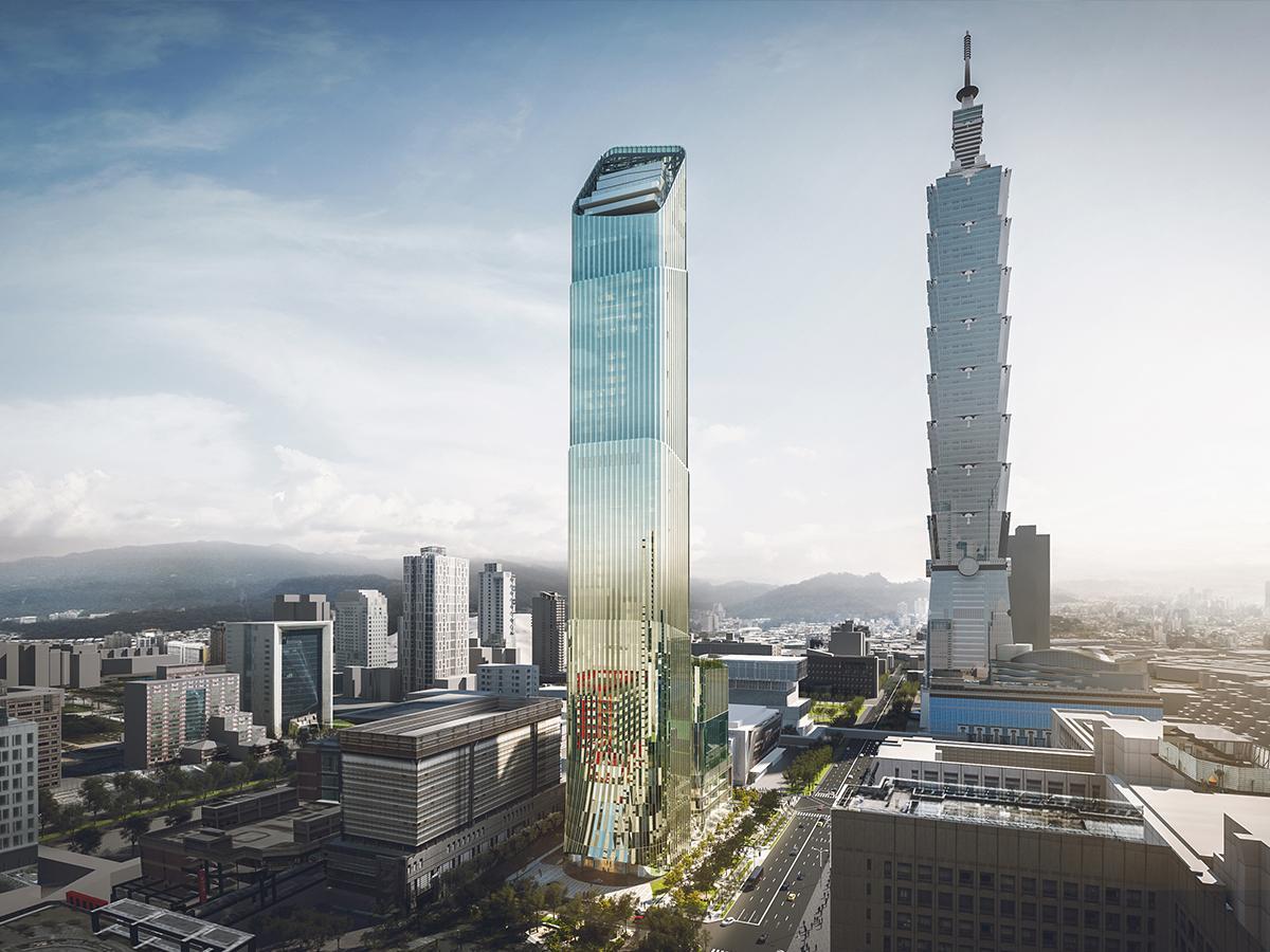 台北で2番目に高い「台北スカイタワー」(イメージ図)
