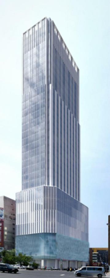 西日本鉄道が2023年夏をめどに出店する「ソラリア西鉄ホテル台北西門(仮称)」の外観図
