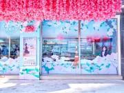 台湾セブン-イレブン、桜と世界都市をテーマに改装 桜一色に