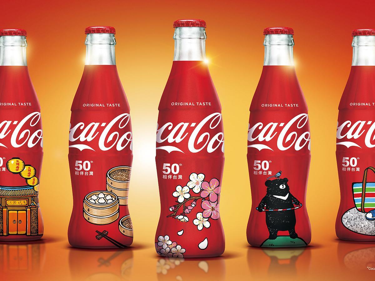 台湾コカ・コーラが販売する「50周年記念ガラスボトル」