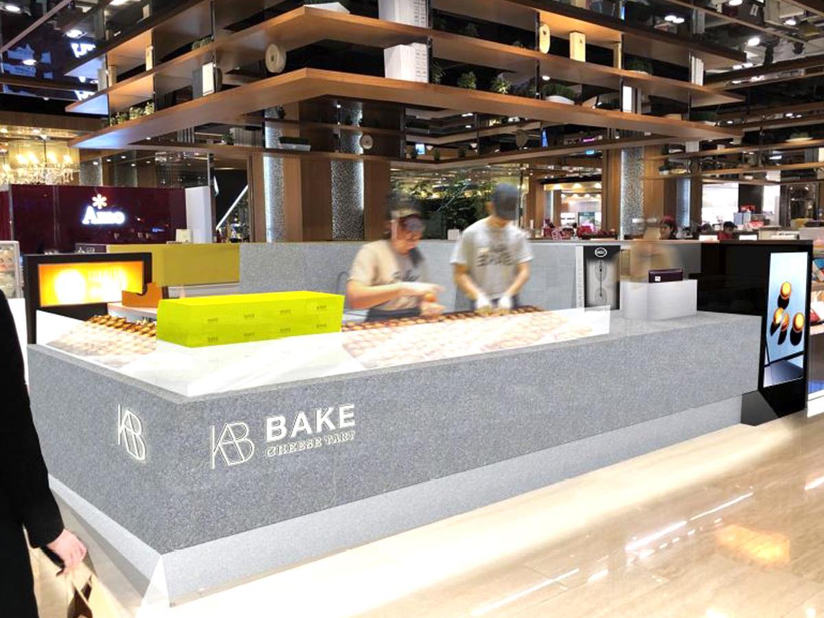 5月31日にオープンした「BAKE CHEESE TART 板橋大遠百店」の店内
