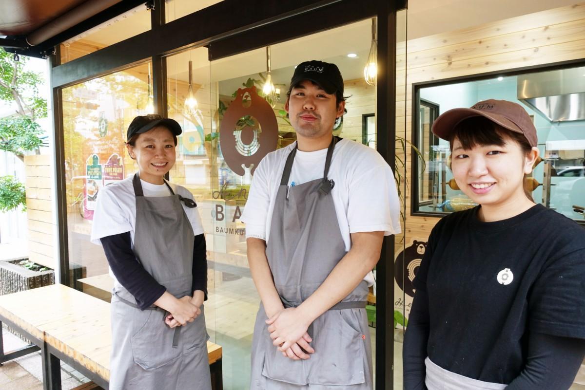 アニバウムの松川さん、工藤さん、内田さん(左から)