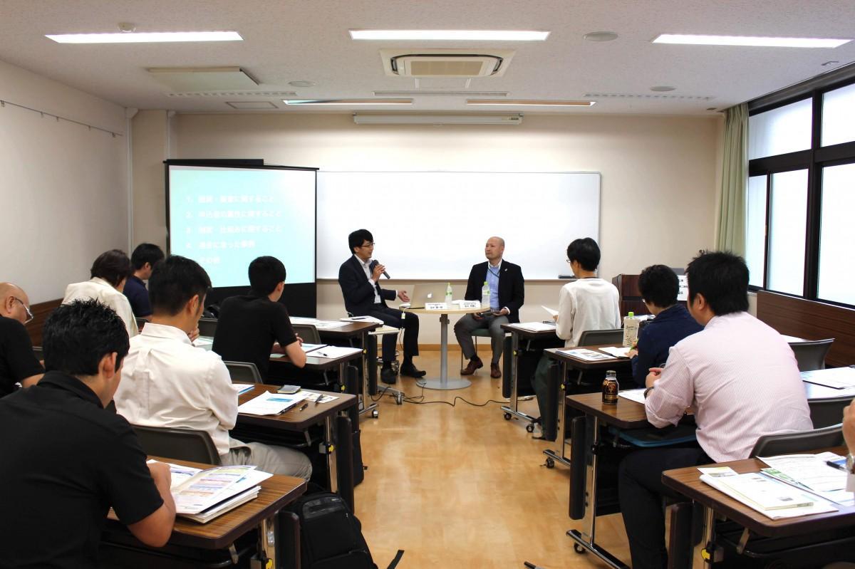 高田馬場創業支援センターで過去に開催された融資に関するセミナーの様子
