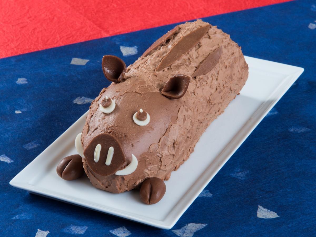 12月30日から販売開始する「亥(い)の一番ロールケーキ」