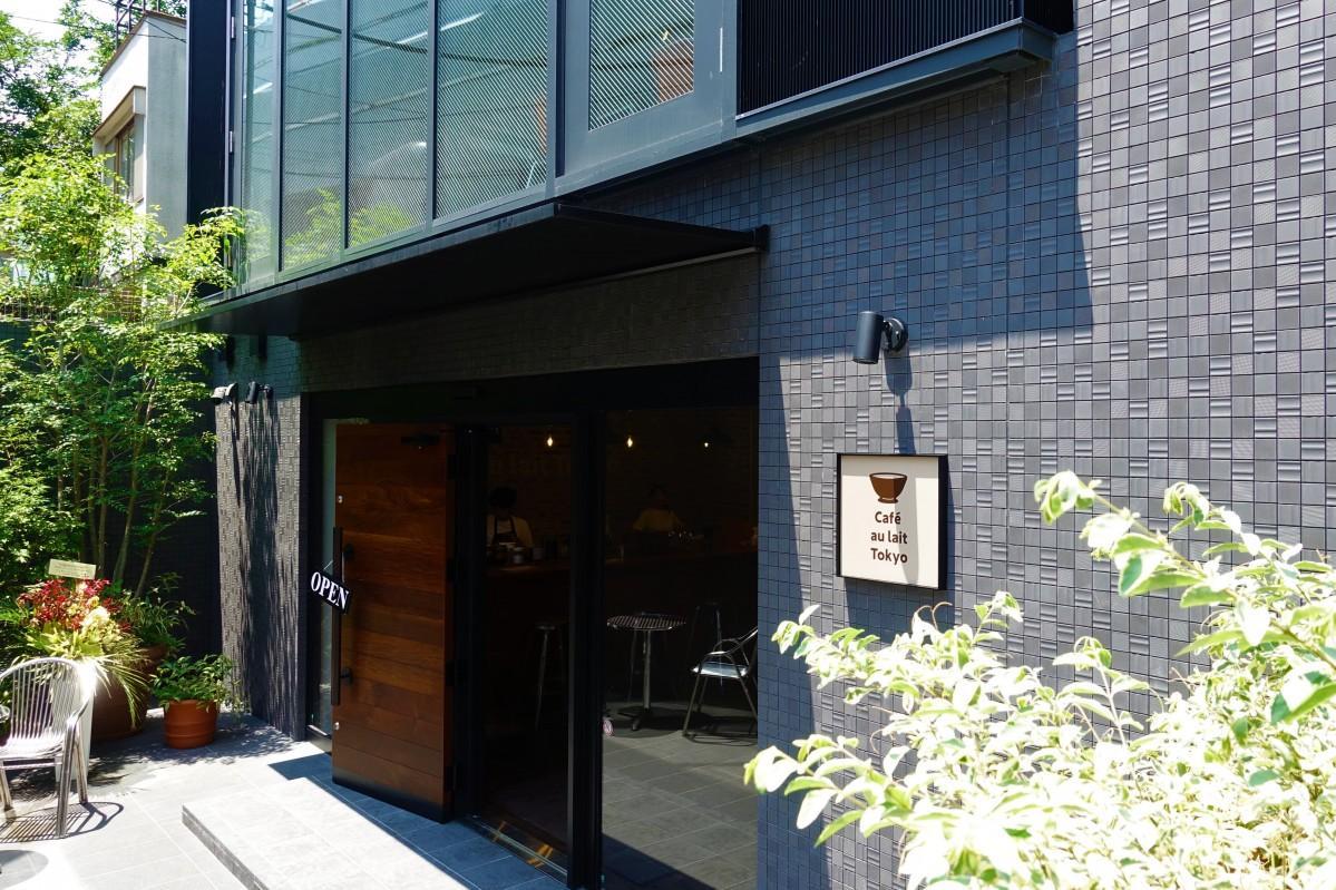 カフェオレ専門店「Cafe au lait Tokyo」のエントランス