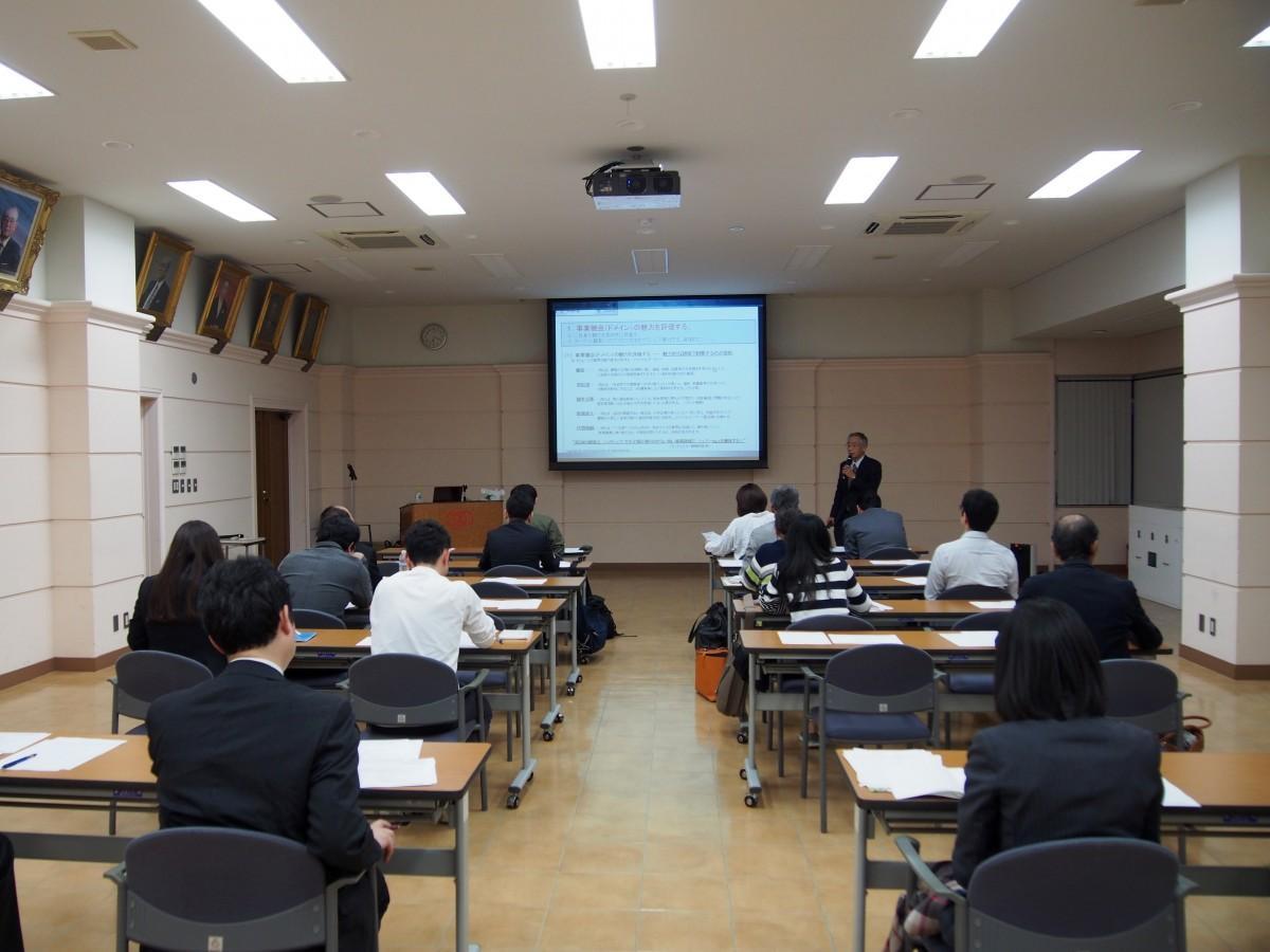 昨年、東京三協信用金庫本店で開催された「創業スクール」の様子(講師:中小企業診断士 和田敦登さん)