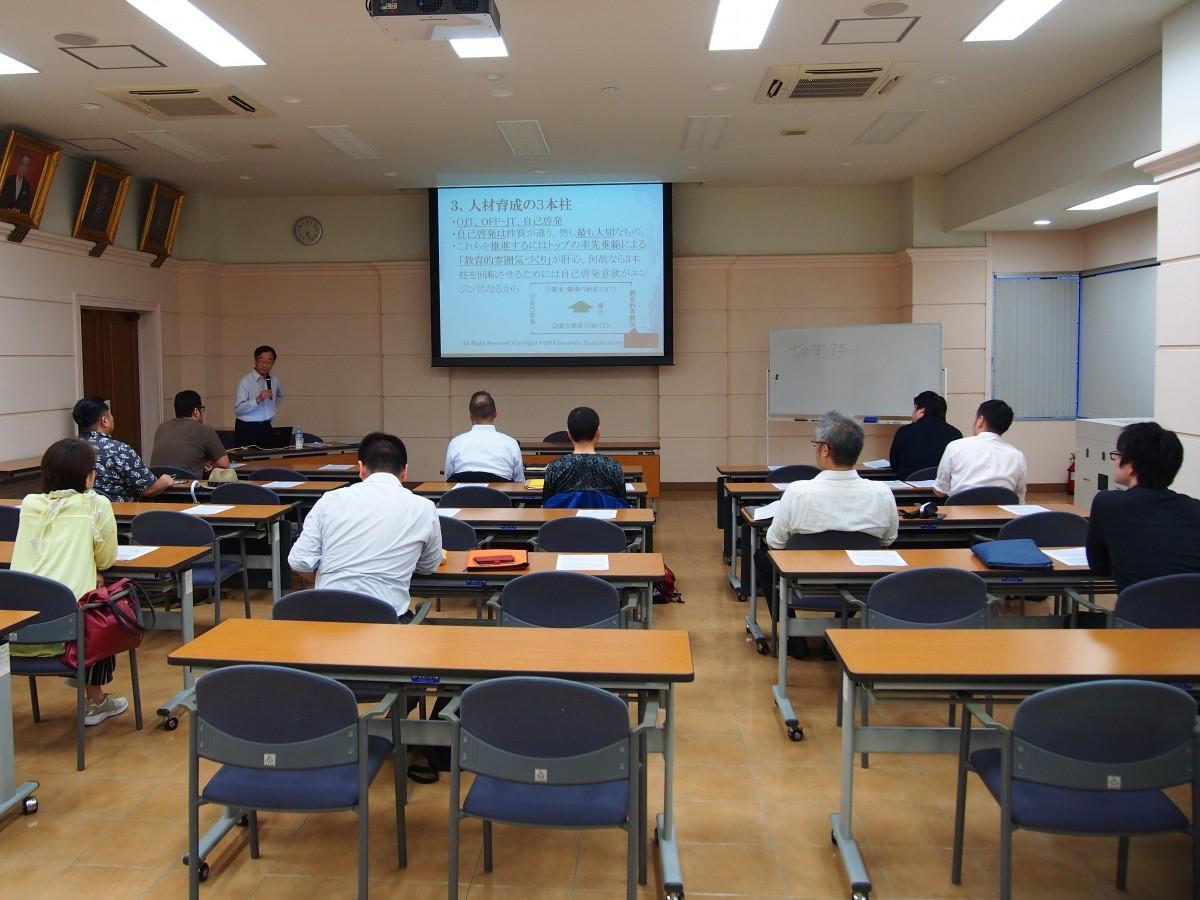 前回、東京三協信用金庫本店で開催された「創業スクール」の様子(講師:今村哲也さん)