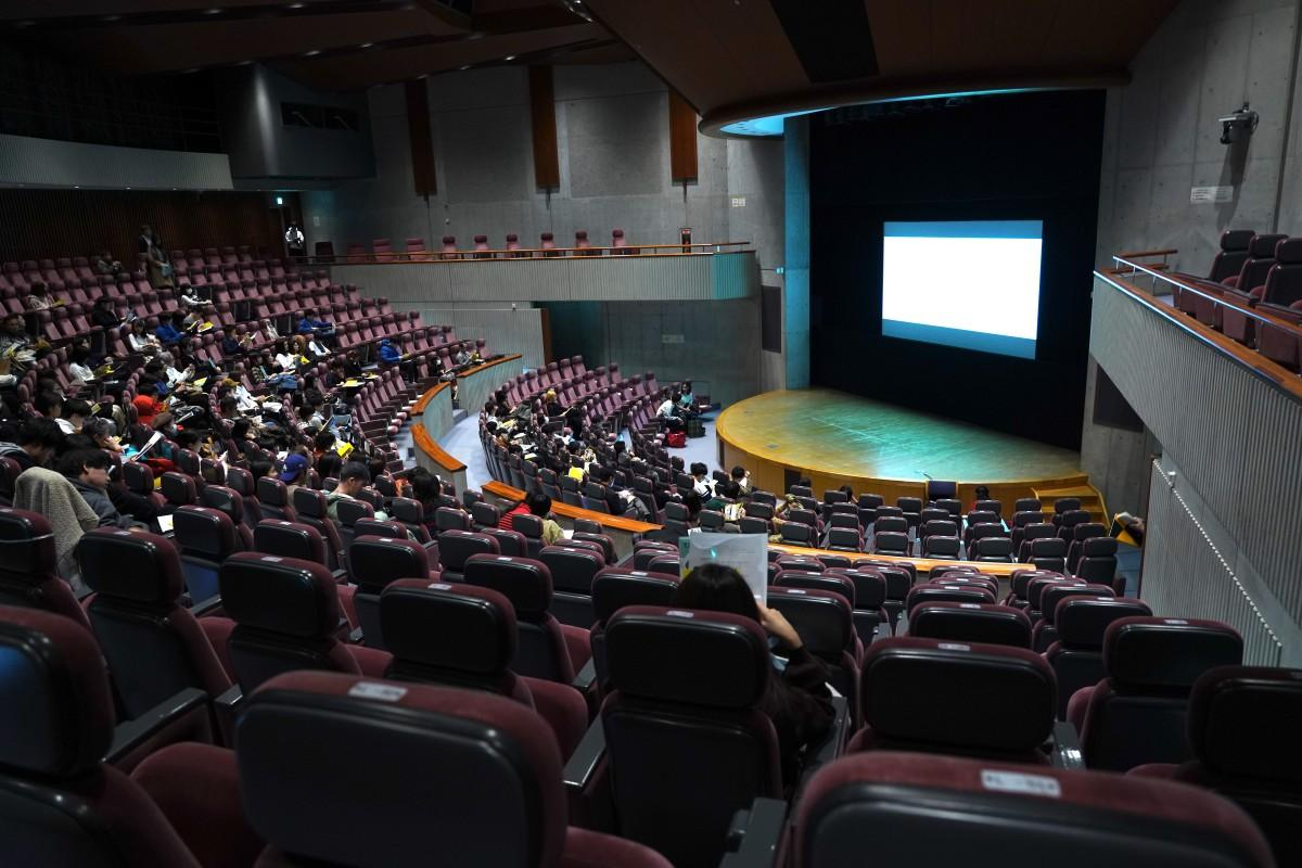 「映像制作実習」上映会の会場の様子