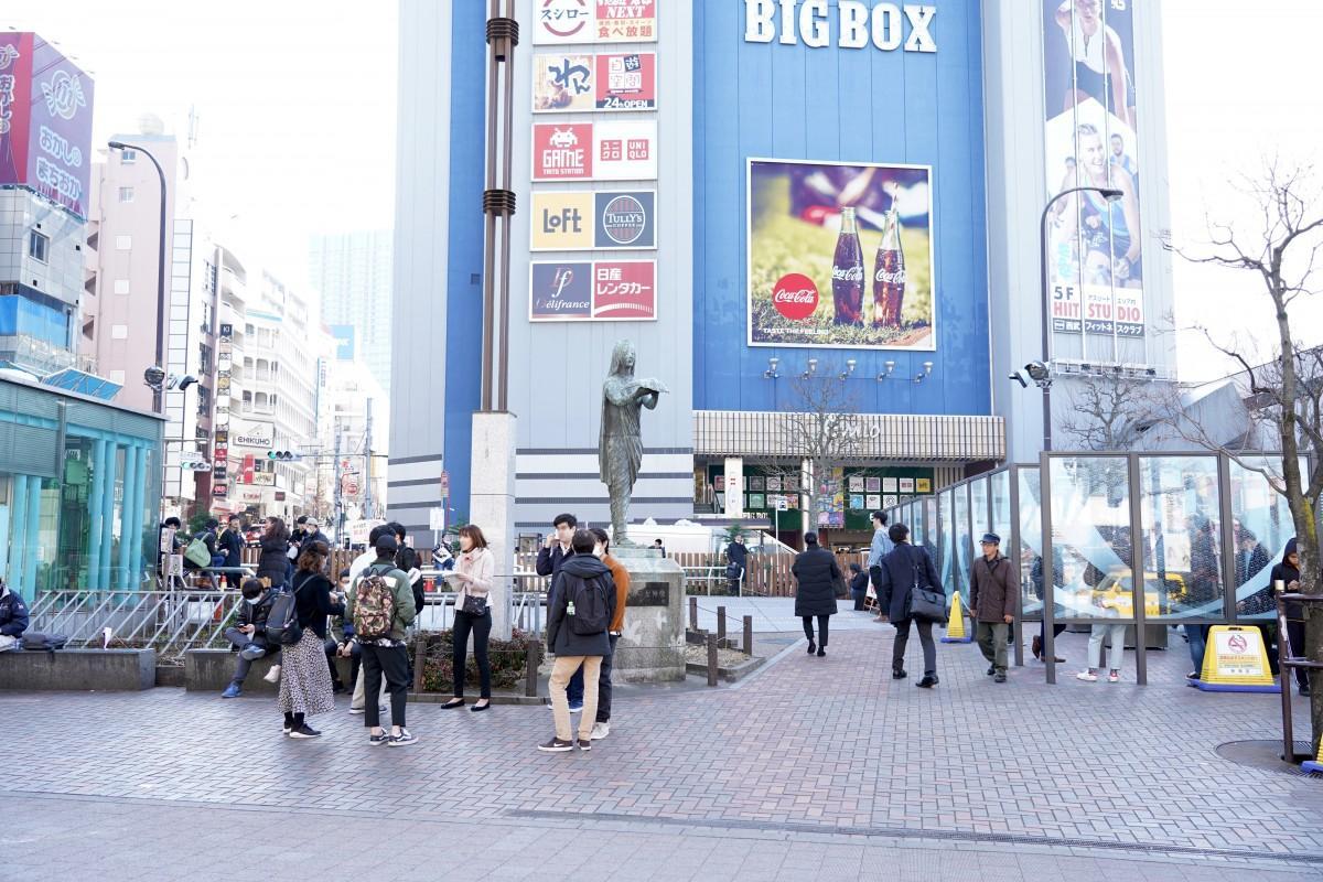 緑地改修工事が行われる高田馬場駅前ロータリー