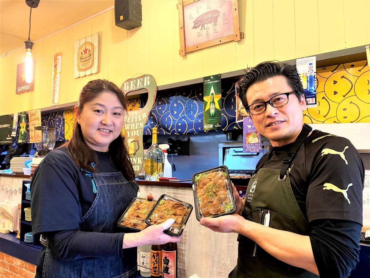 西早稲田で焼きとん居酒屋「BOO BASE WASEDA(ブーベイスワセダ)」を営む小島さん夫婦