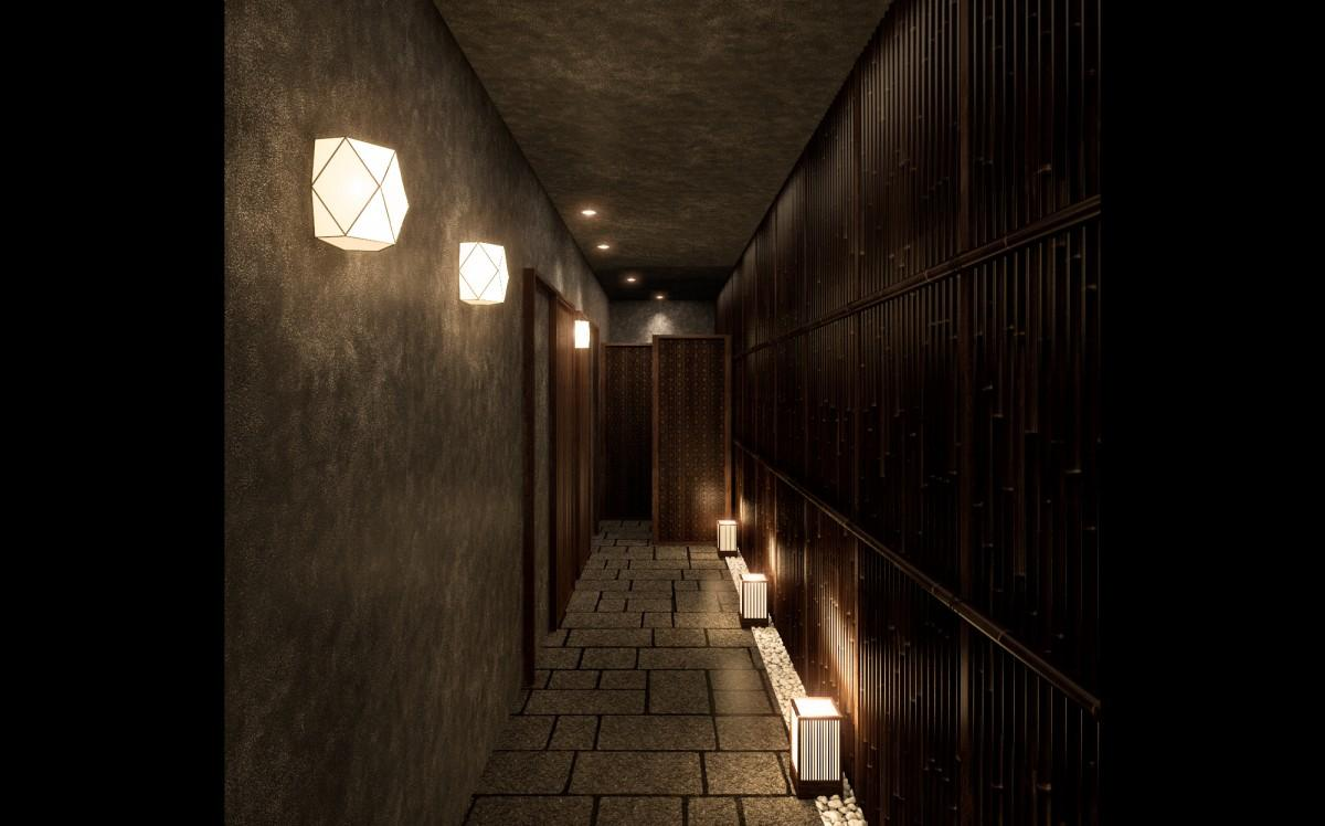 リーガロイヤル東京「京料理 たん熊北店 Directed by M.Kurisu」 京の路地をイメージしたアプローチ
