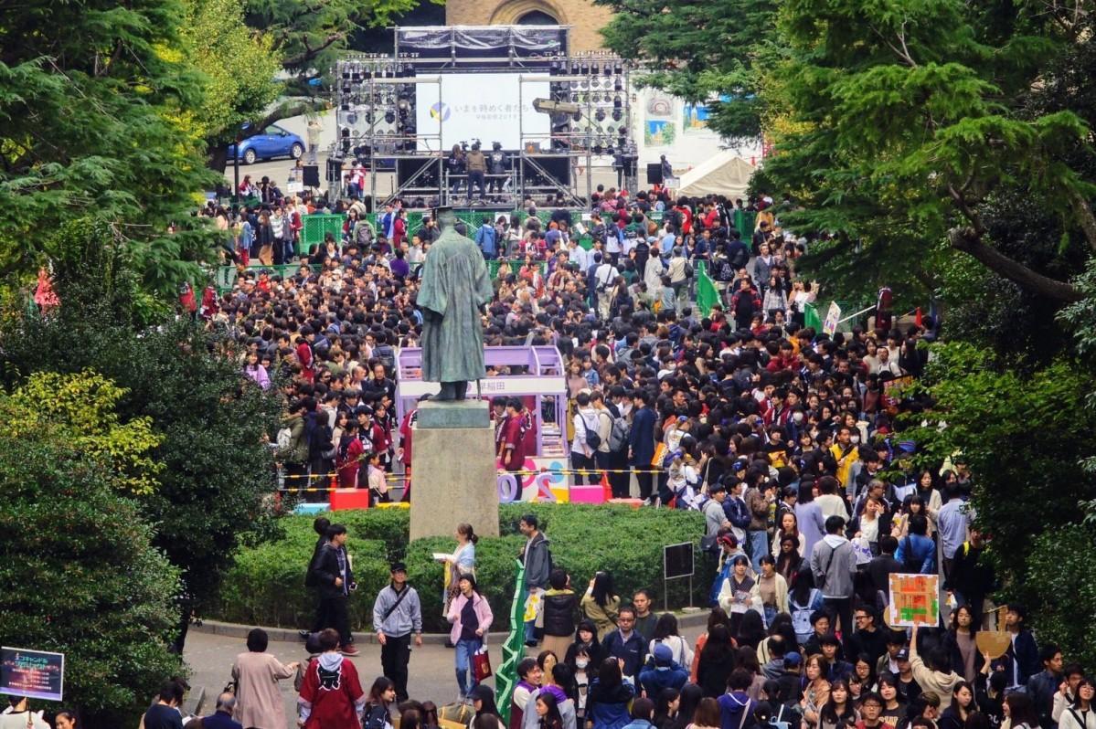 昨年開催された「早稲田祭2019」の様子(提供:早稲田祭2020運営スタッフ)