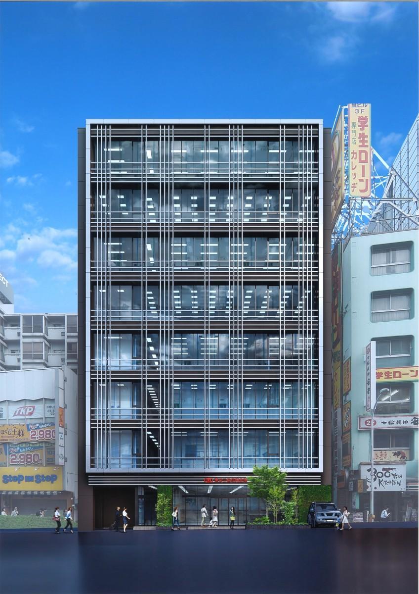 東京三協信用金庫の新本店ビルのイメージ(2023年の完成を予定、提供:東京三協信用金庫)