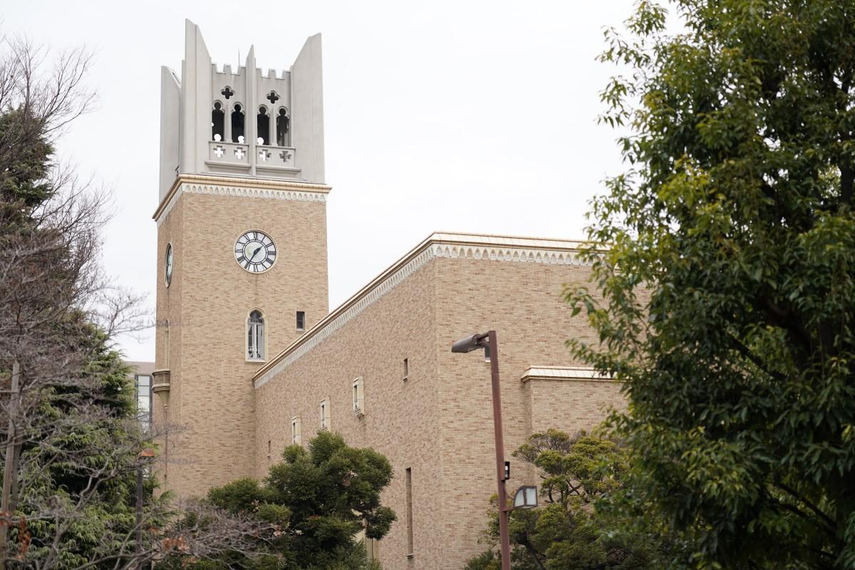 早稲田大学の大隈記念講堂(1月6日撮影)