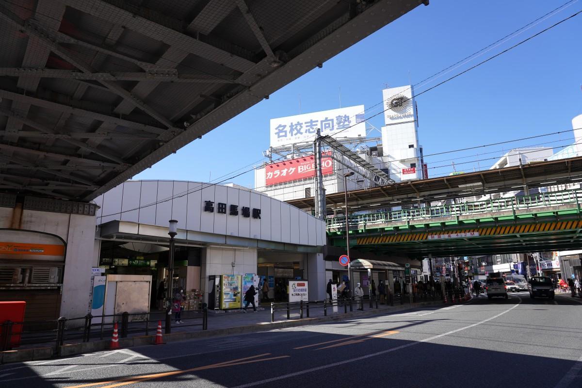 高田馬場駅前、2月9日の様子