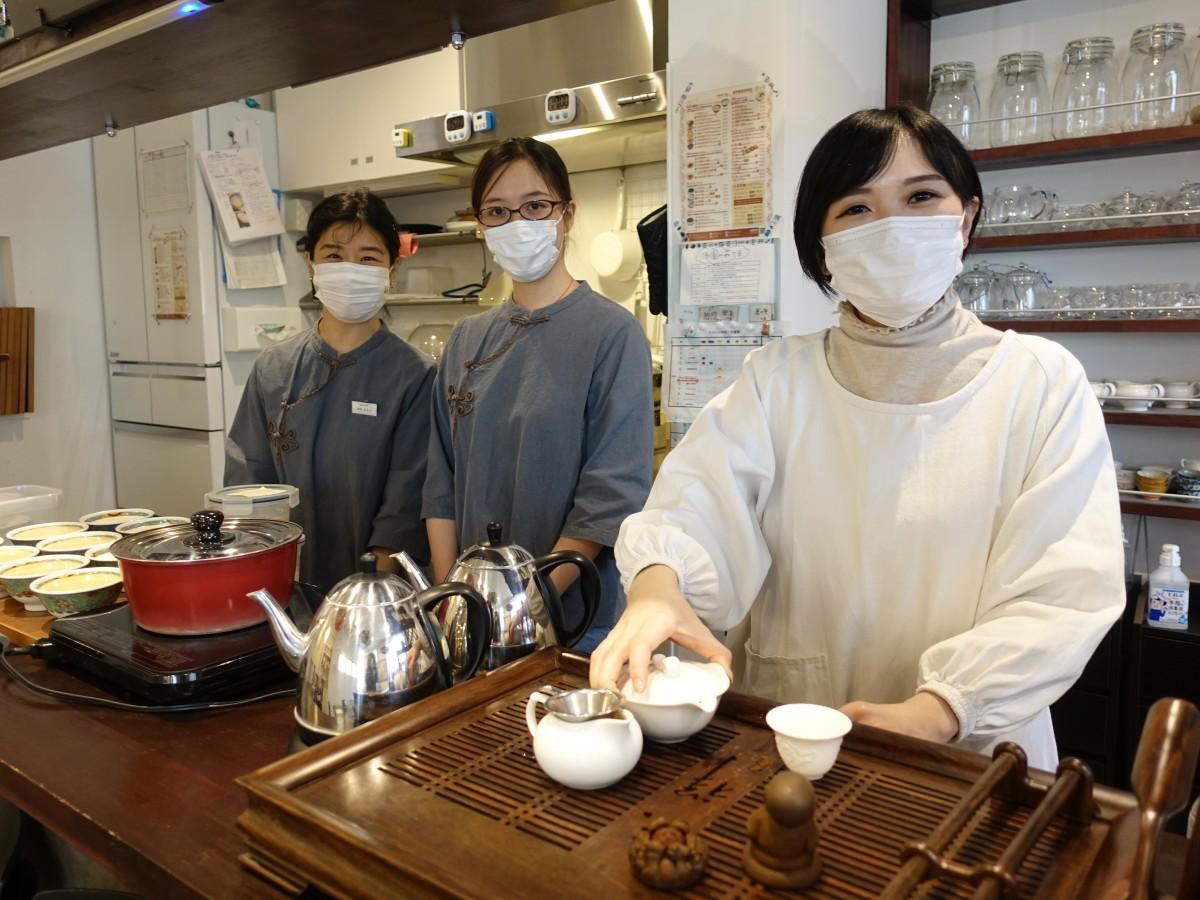 西早稲田の中国茶カフェ「甘露」の皆さん