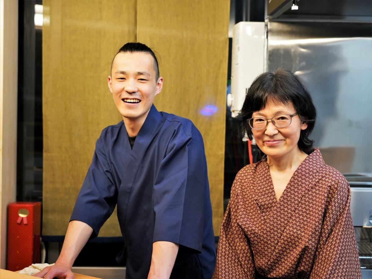「おすしや太喜」の依田太喜さん、しげみさん
