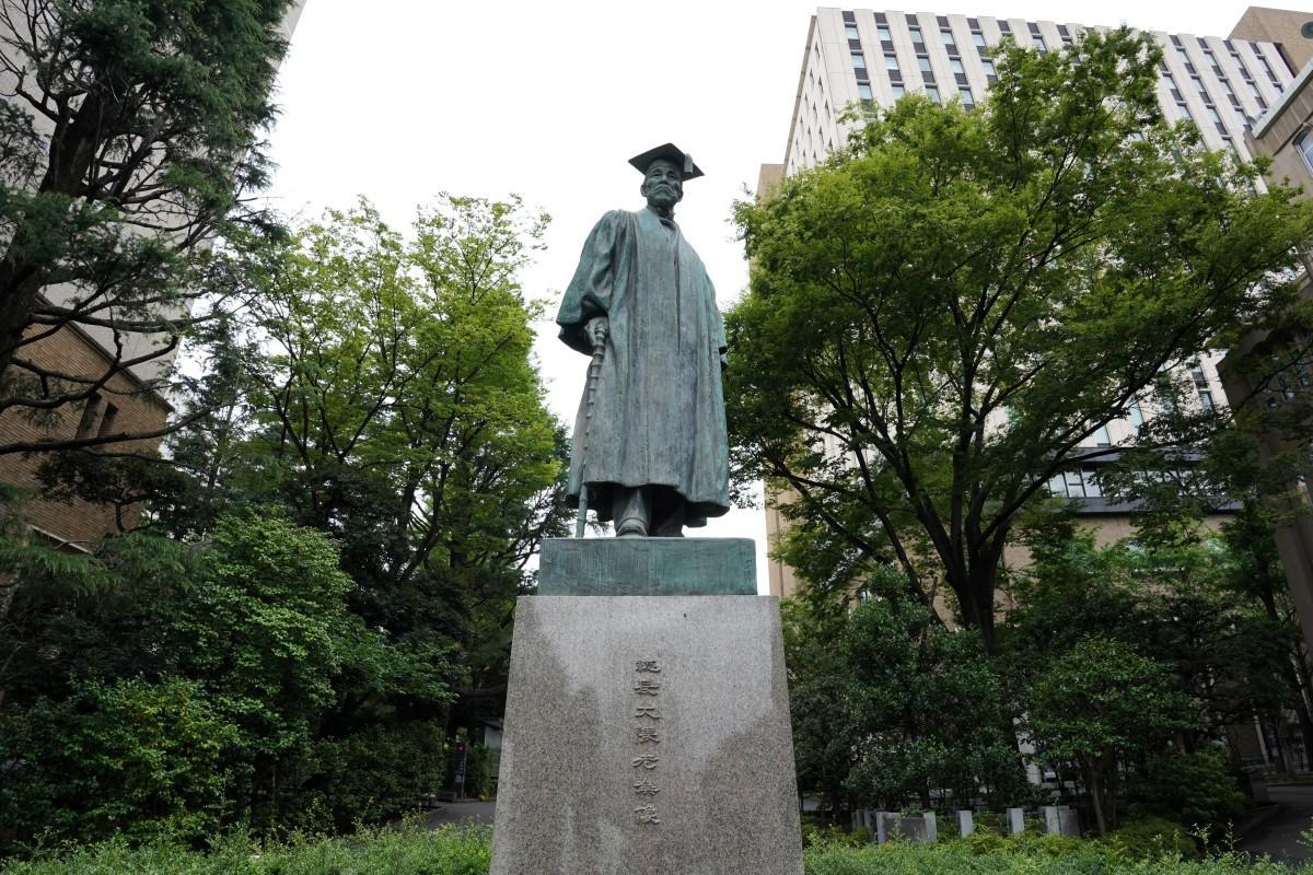 早稲田大学の大隈重信像