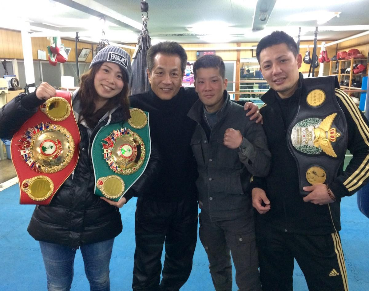 左から竹中佳さん、山下忠則さん、高梨竜平さん、三谷将之さん