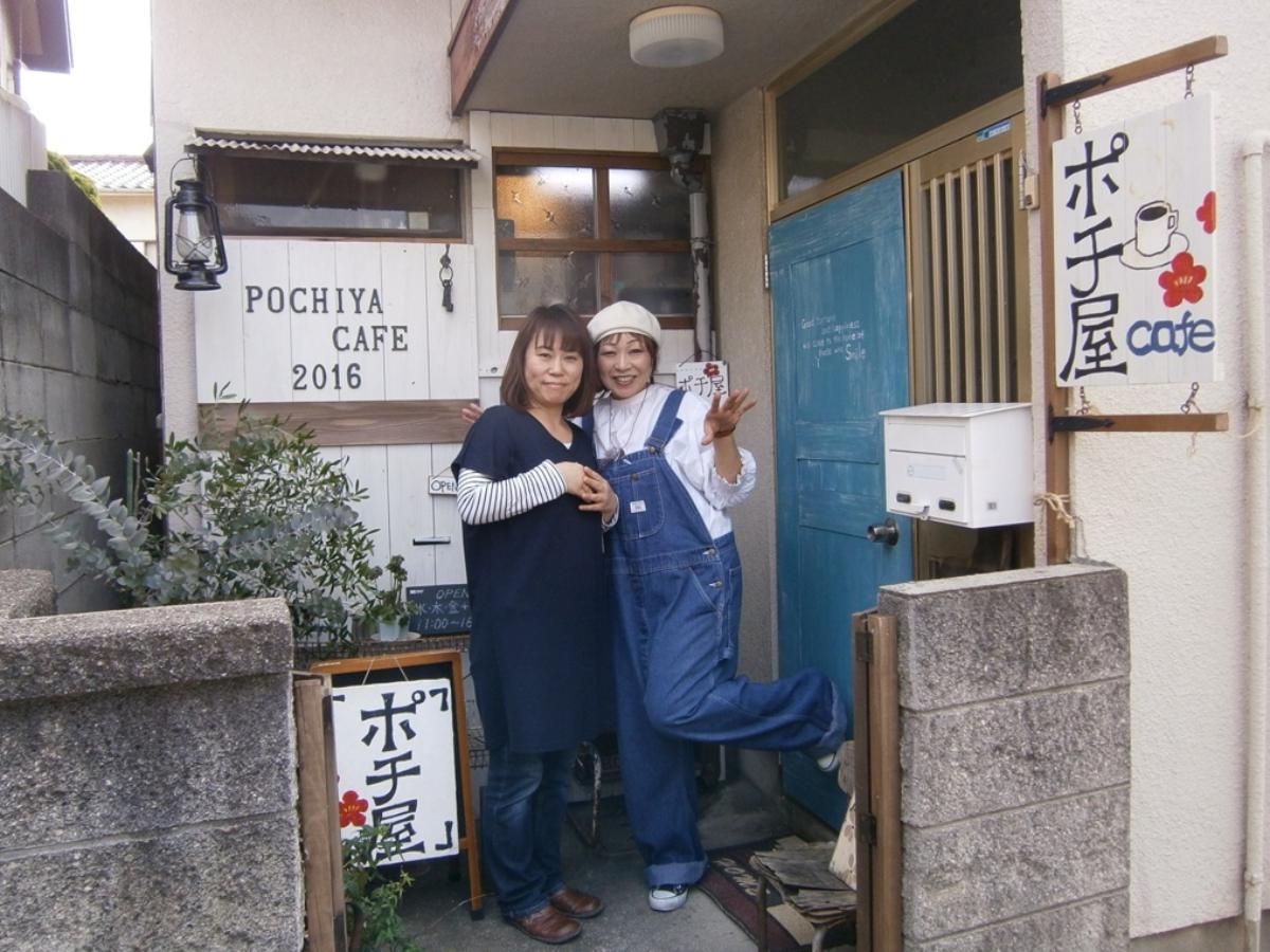 オーナーの田浦さん(左)とワークショップを行う重さん(右)
