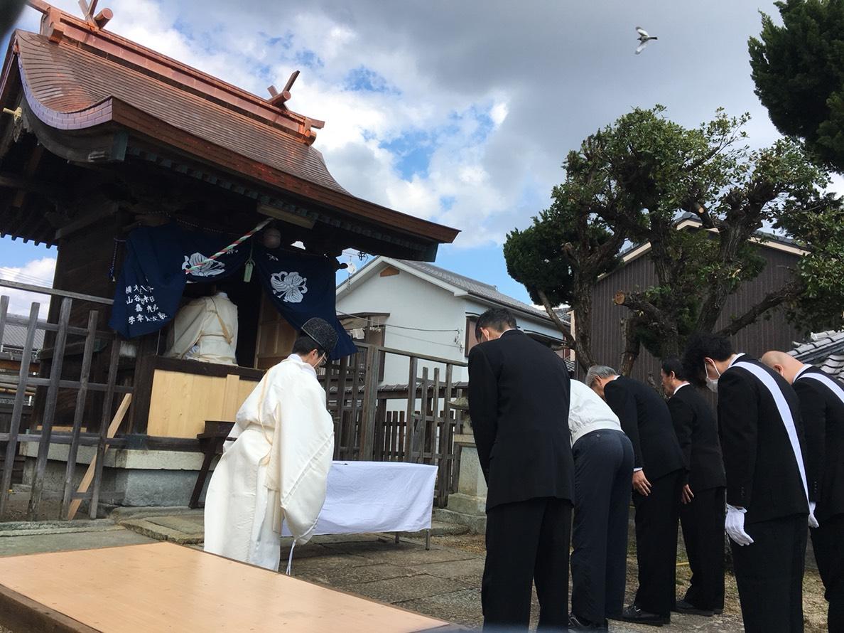 蛭子神社での神事の様子