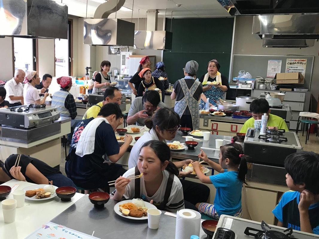 9月7日に開催された「わくわく食堂」の様子