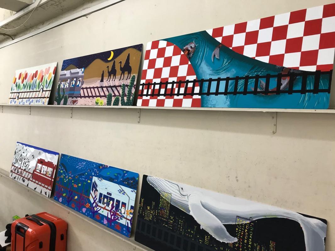 SONE美術学院曽根校の生徒が製作した作品