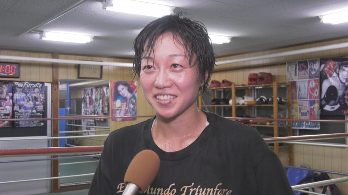 初防衛戦に向けて意気込みを語る岩川選手