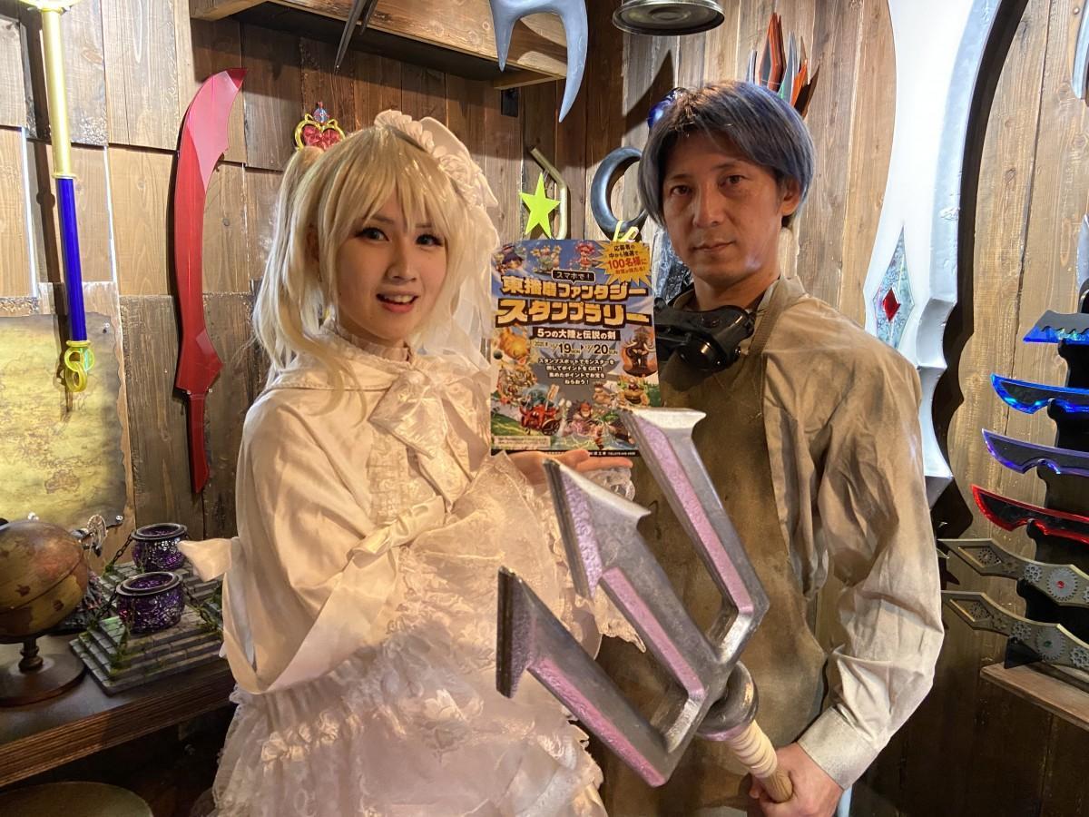 イベントをPRする匠工芸の折井匠さん(右)と桃井鈴さん(左)