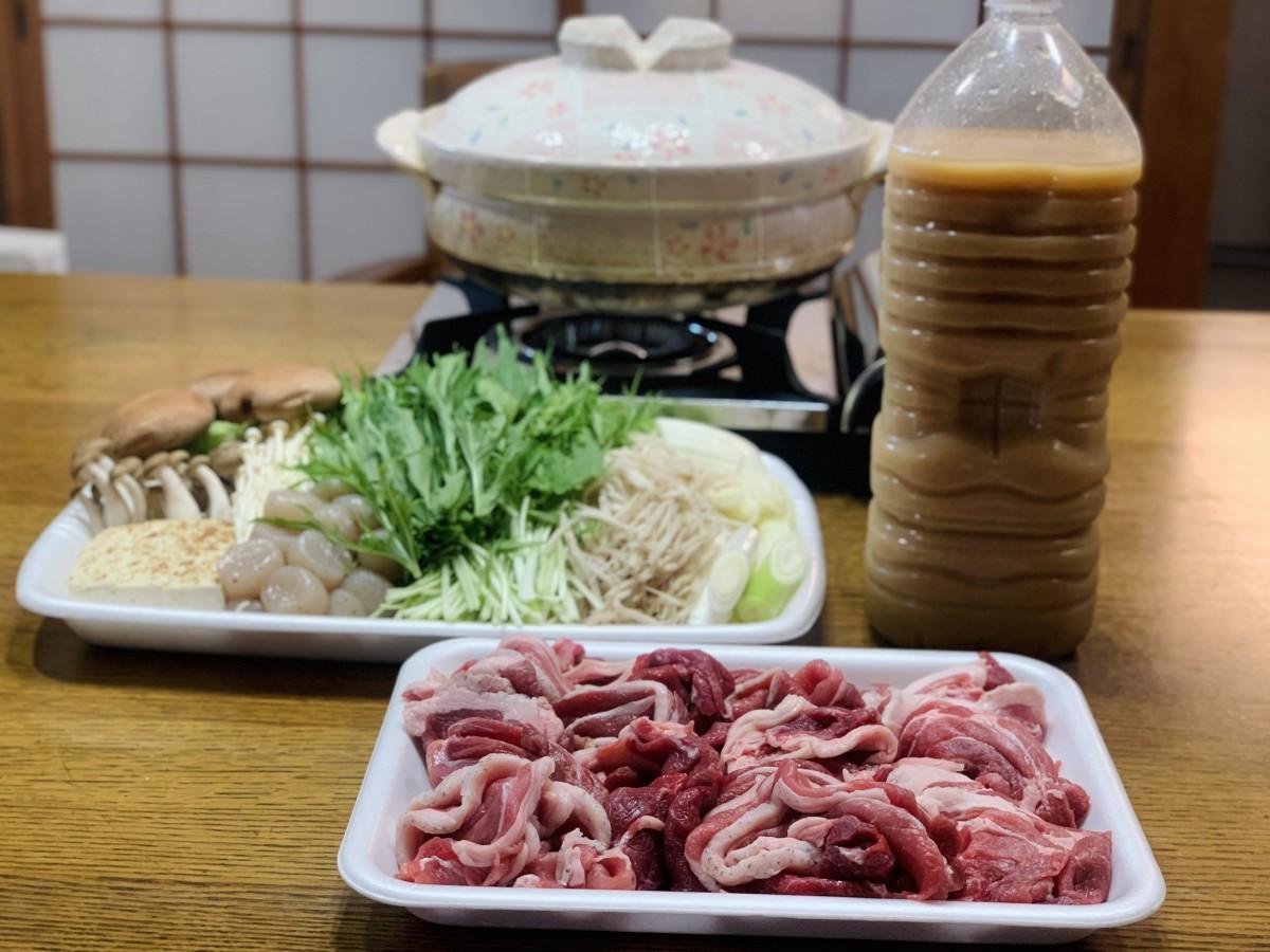 猪鍋セット(写真は3人前)