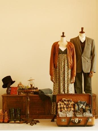 服飾専門のリサイクルストア「ジャンブルストア」2008秋冬イメージのディスプレイ
