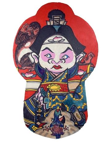 福島県磐梯熱海の「唐人凧絵 桃太郎」は山間部なのに海辺の凧の形状がレア
