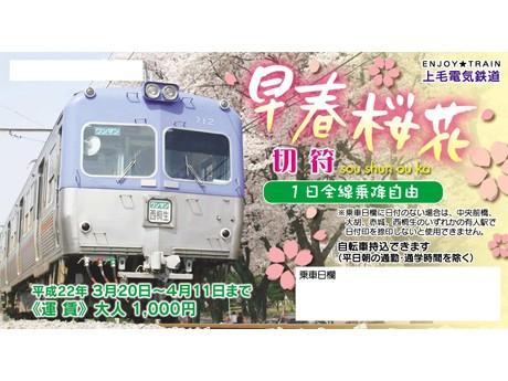 「早春桜花切符」大人、800枚限定