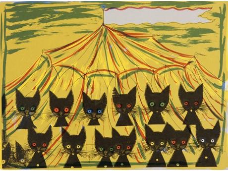 「ネコネコ大サーカス」(1986年)より。文は楠田枝里子さん