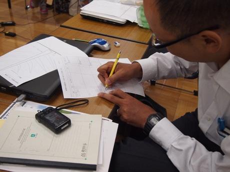 「富岡製糸場のCMを作る」と意気込む、富岡から参加した茂原正秀さん