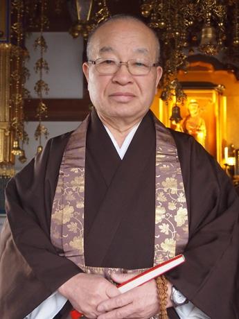 前橋中心市街地にある浄土宗大蓮寺の住職、蓮池光洋さん