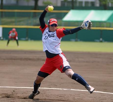 上野由岐子さん(ビックカメラ高崎、日本代表投手)
