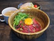 高崎 和カフェの新店が好調 ローストビーフ丼など昼夜同一価格で