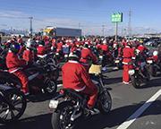 「バイクのサンタ」がパレード 今年は100台、太田~渋川で募金活動