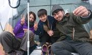 赤城「氷上ワカサギ」解禁日に200人 最高は217匹
