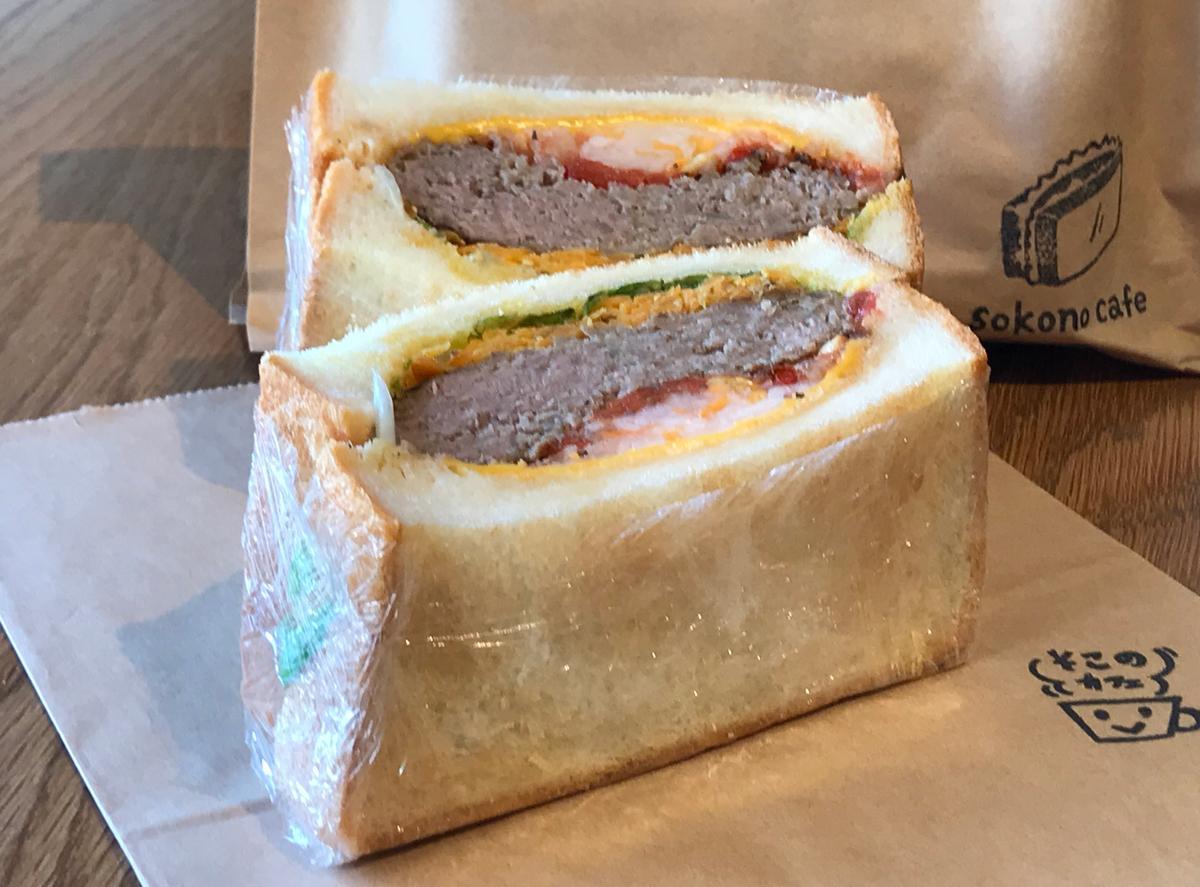 ダイコンのピクルスがアクセント「トーストサンドイッチ ビーフ」650円