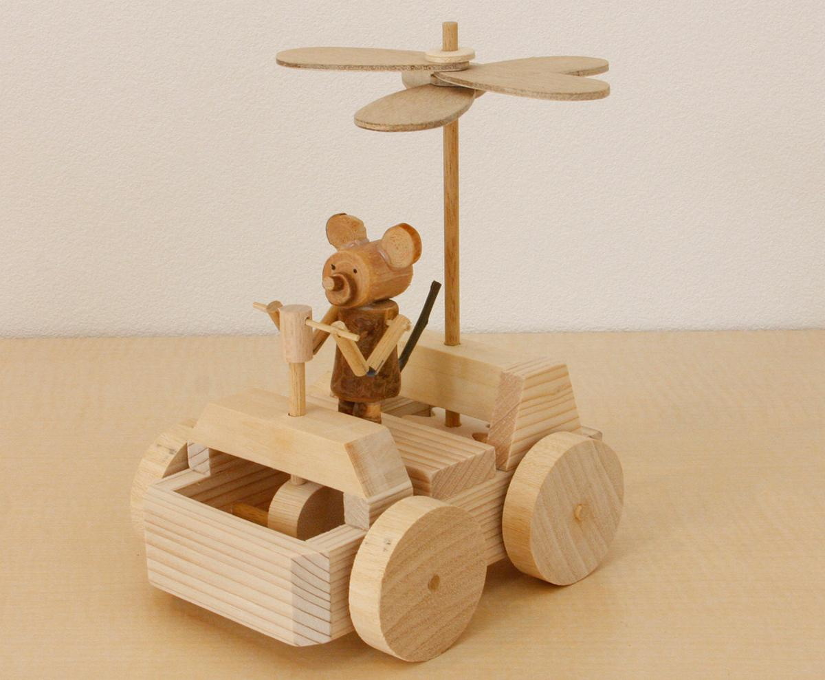 グルーガンやボンドを使って作る「からくりおもちゃ」、約2時間の工程