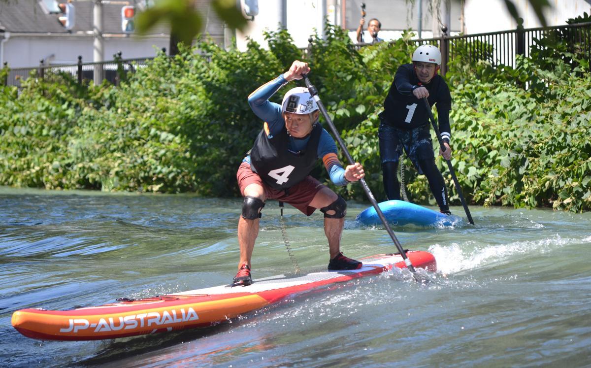 ボードに立ちパドルを漕ぐSUP(Stand Up Paddleboard)、広瀬川を攻略できるか