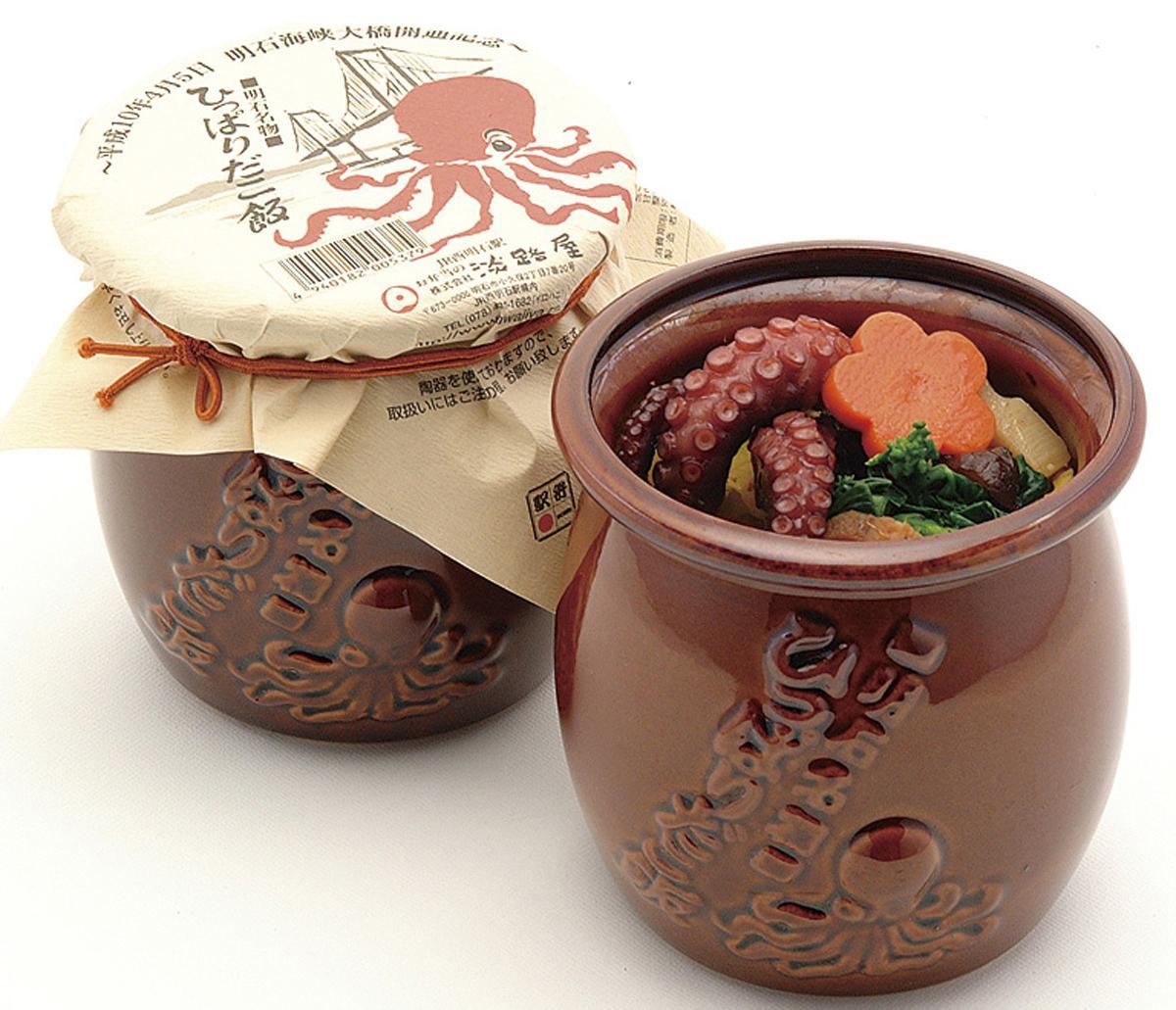 「ひっぱりだこ飯」(1,080円)、当日は明石から来た職人が実演販売する
