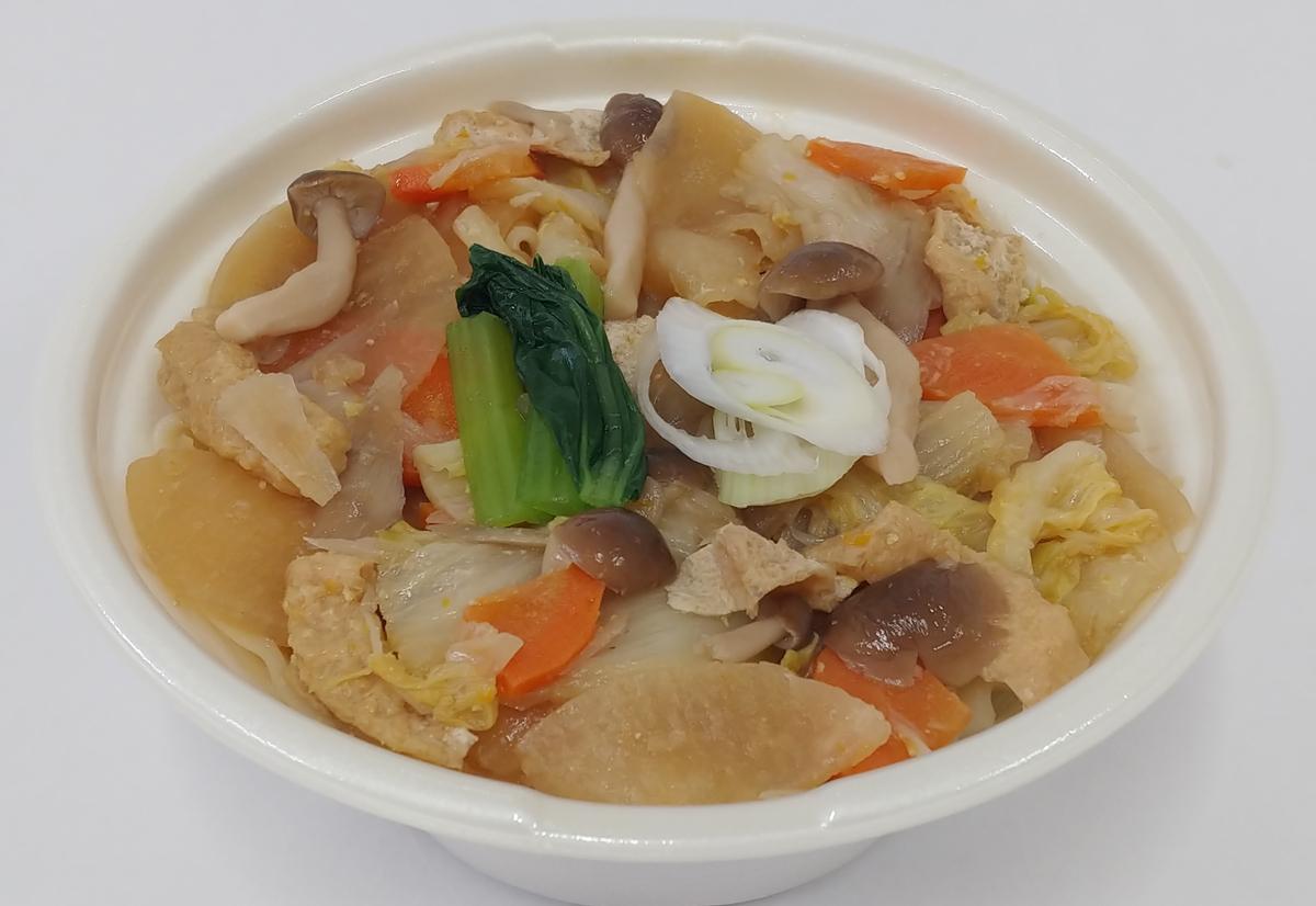 ニンジン、ゴボウ、大根、白菜、小松菜などの野菜たっぷり「1/2日分の野菜!上州地粉のおっきりこみ」