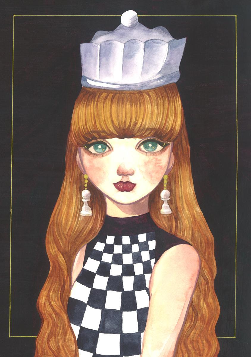 イラスト部門大賞を受賞したMonfaさんの「チェスの女王」