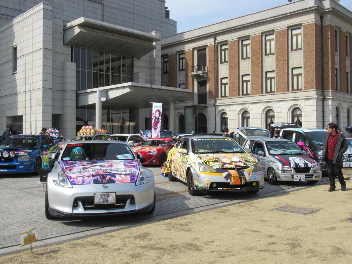 昨年、群馬県庁で開催された際の「痛車」の展示